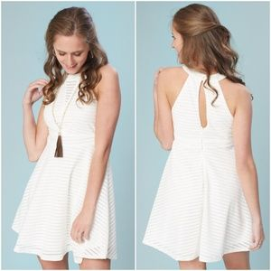 NWT Altar'd State White Clear Skies A-Line Dress